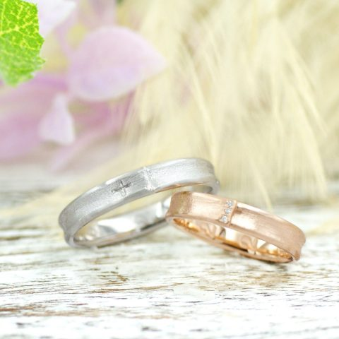 ツヤ消しにこだわったいつもまでも付けていられる結婚指輪/kazariyaYui福島県郡山市