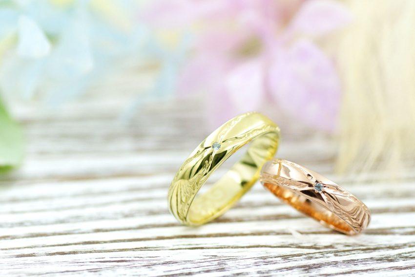 本宮市からお越しの髙野さんご夫妻の結婚指輪/kazariyaYui福島県郡山市