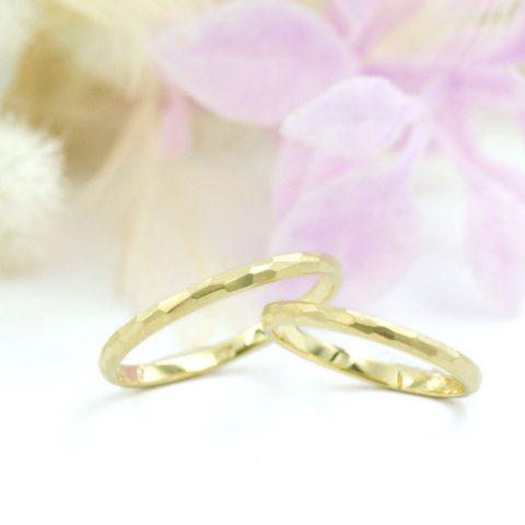 さりげないおしゃれ槌目模様の結婚指輪/kazariyaYui福島県郡山市