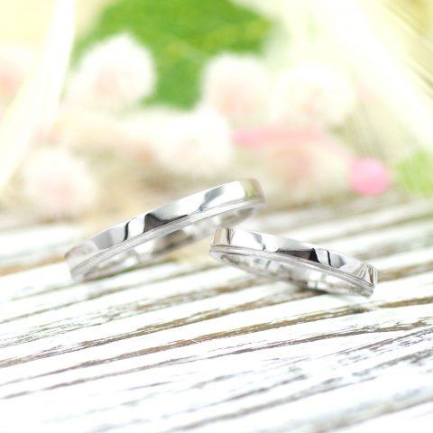 鏡面とマット仕上げの結婚指輪/kazariyaYui福島県郡山市