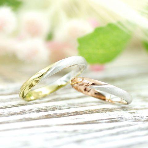 ふたりで手作りした2色の結婚指輪/kazariyaYui福島県郡山市