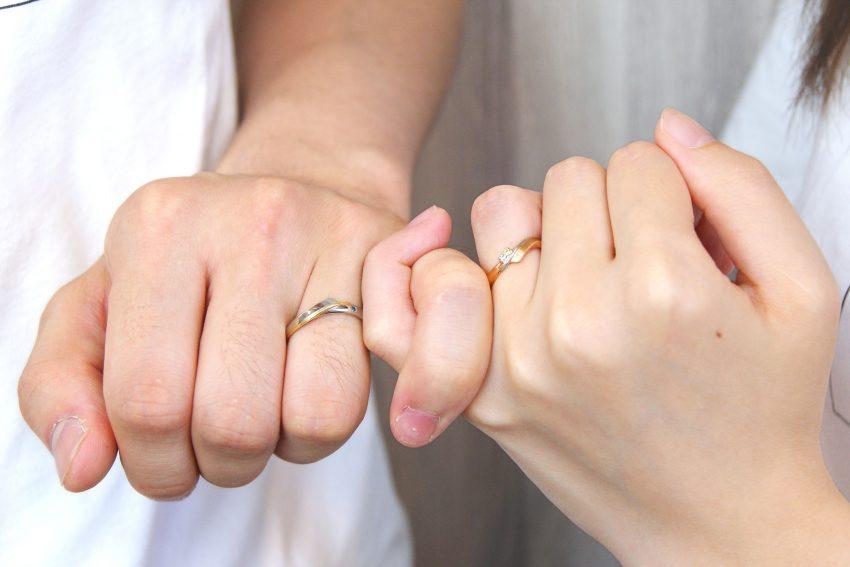 結婚指輪をご依頼頂きました二本松市からお越しの岡部さんご夫妻の指輪/kazariyaYui福島県郡山市
