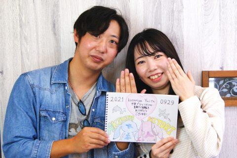 大玉村からお越しの叶谷さんご夫妻/結婚指輪kazariyaYui福島県郡山市
